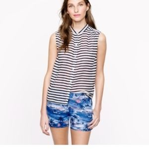 J. Crew button up sleeveless top